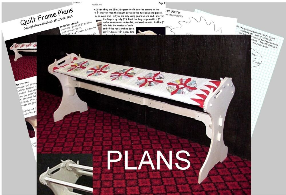 QUILTING FRAME PLANS - Easy To Build   eBay
