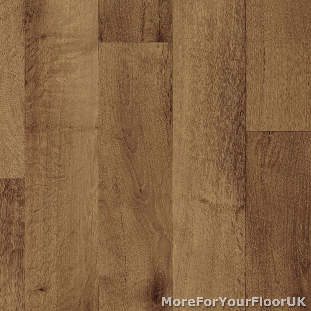 Non slip vinyl flooring dark wood kitchen lino ebay for Lino laminate flooring