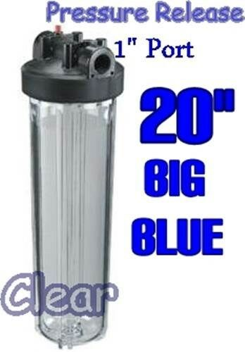 Big Blue 20 Quot Clear Water Filter Housing Whole House Ro Ebay