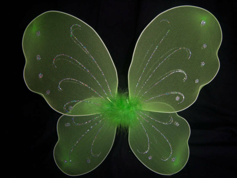 Green Fairy Princess Tinkerbell Or Butterfly Wings Ebay