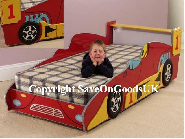 Boys Racing Car Bed Quality Red Kids Car In Stock Uk Ebay