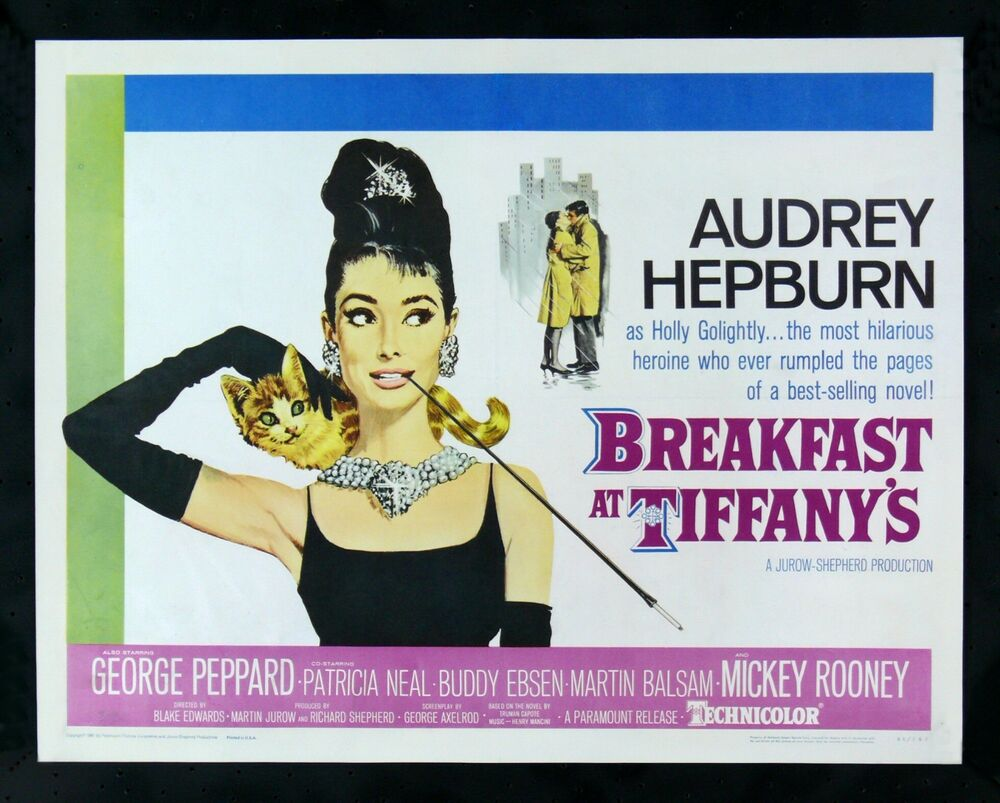 breakfast at tiffanys cinemasterpieces audrey hepburn movie poster 1961 ebay. Black Bedroom Furniture Sets. Home Design Ideas