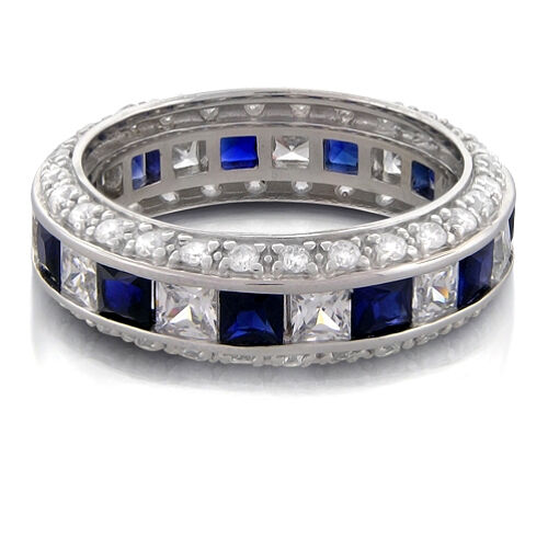 2 50 Ct Micro Pave Amp Princess Cut Sapphire And Diamond