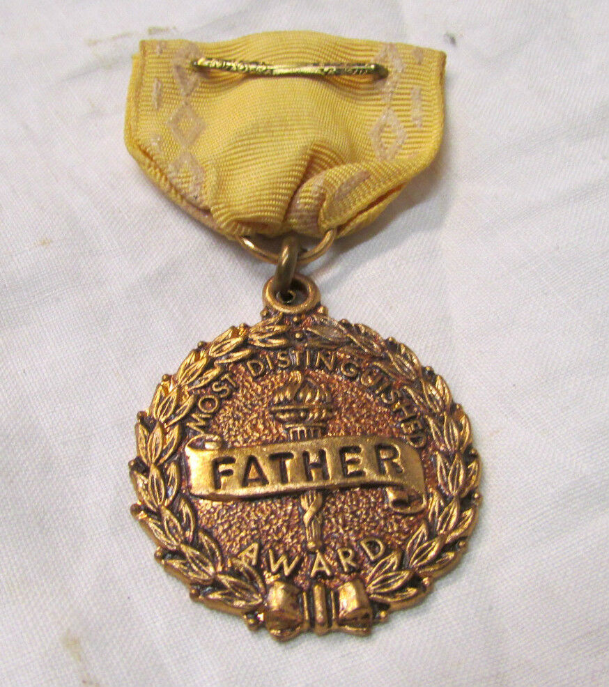 "Vintage ""Most Distinguished Father Award"" Medal with ..."