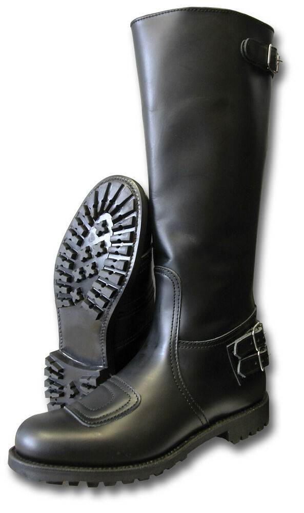1 new pair classic gth police motorcycle trophy boots back Police motor boots