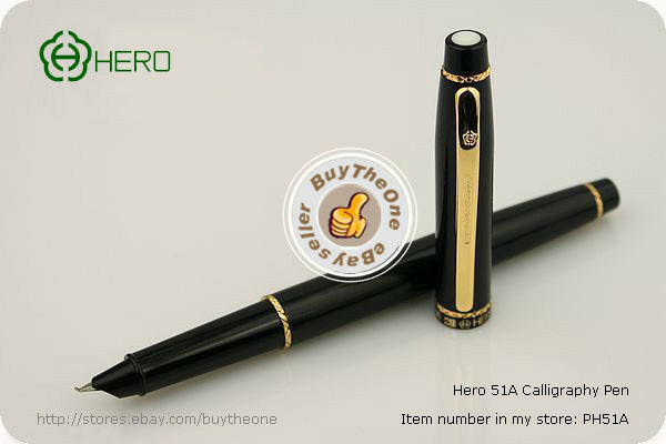 Hero Calligraphy Pen Art Fountain Pen Vintage Converter Ebay