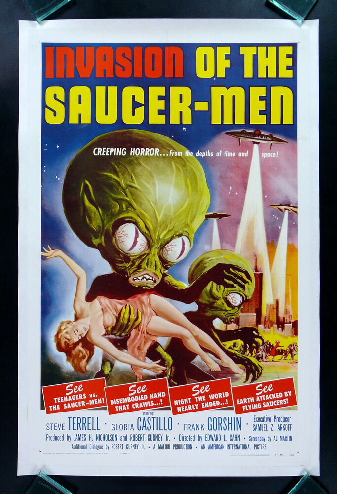 INVASION OF THE SAUCERMEN * CineMasterpieces ORIGINAL ...