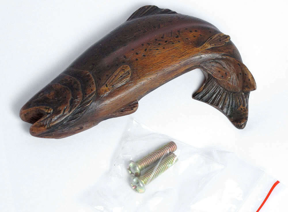 new fishing hardware trout drawer handle bin pull knob ebay