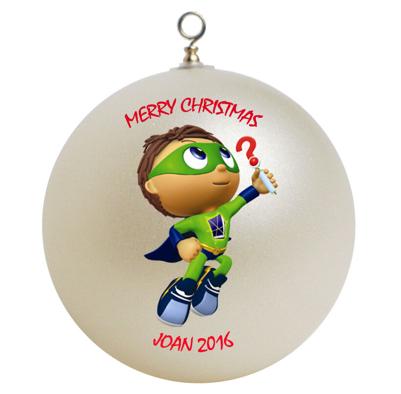 Personalized super why christmas ornament gift add name ebay for Why christmas is the best holiday