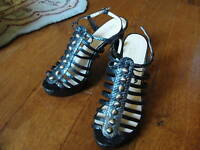 Coach Black Sarafina Strappy Heels Womens Shoes size 8