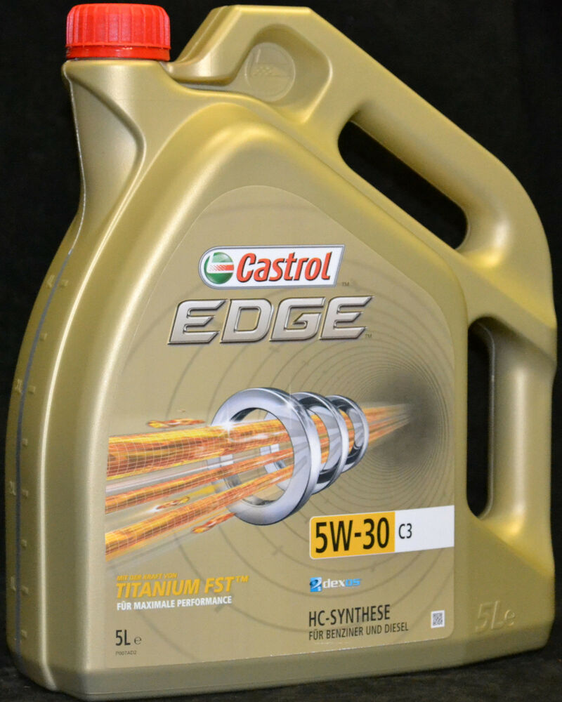 5 liter castrol edge titanium fst 5w 30 c3 mb 5w30 vw 502 00 mb ebay. Black Bedroom Furniture Sets. Home Design Ideas