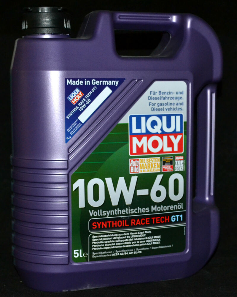 5 liter liqui moly synthoil race tech gt1 10w 60 motor l. Black Bedroom Furniture Sets. Home Design Ideas