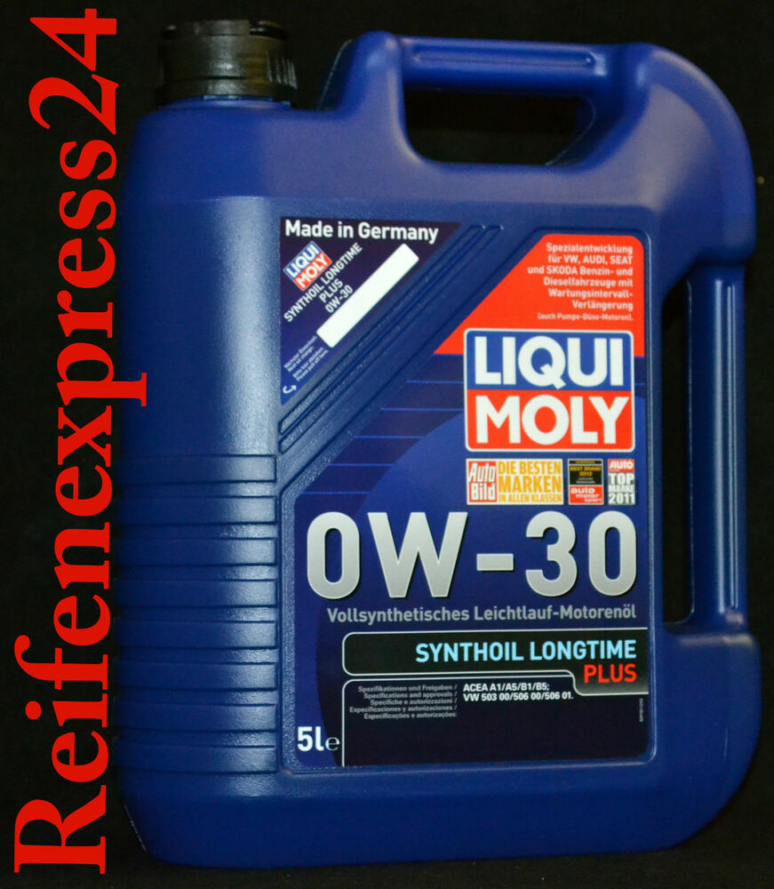 5 liter liqui moly synthoil longtime plus 0w 30 motor l vw. Black Bedroom Furniture Sets. Home Design Ideas