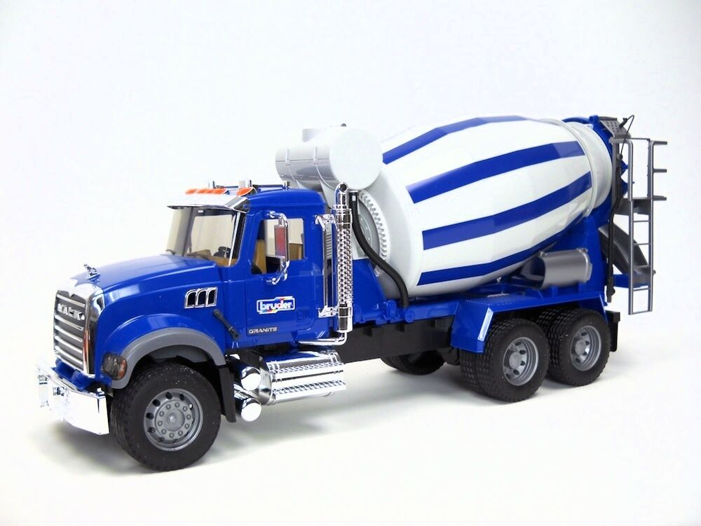 Mixer Truck Toy : Bruder toys mack granite cement mixer new in box ebay