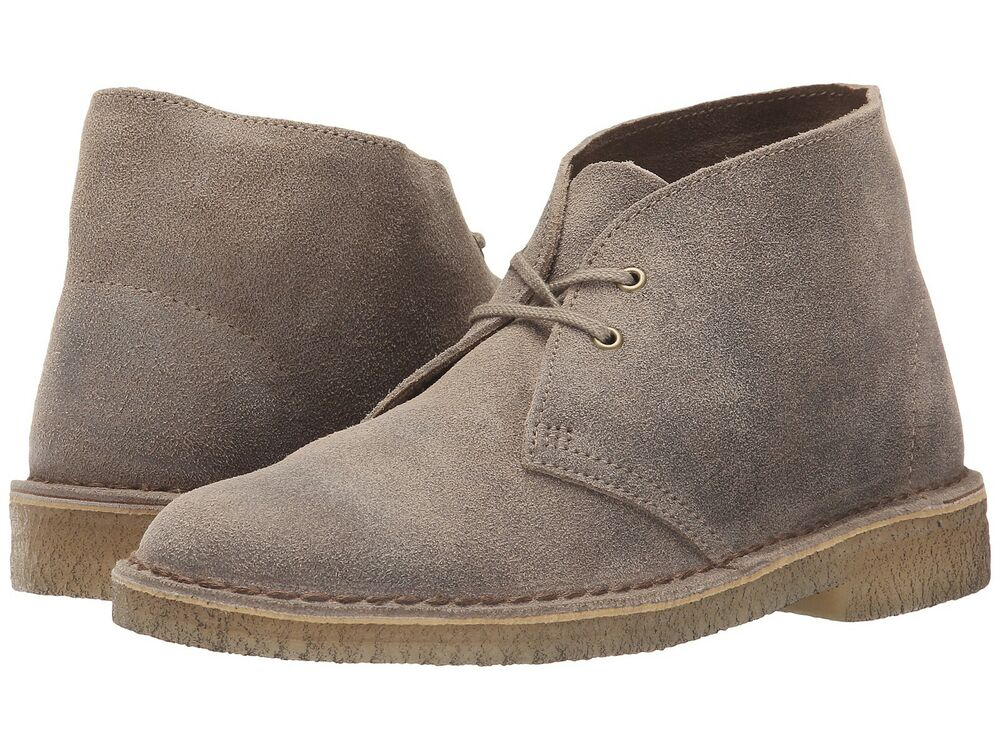 womens clarks desert boots taupe distressed 70304