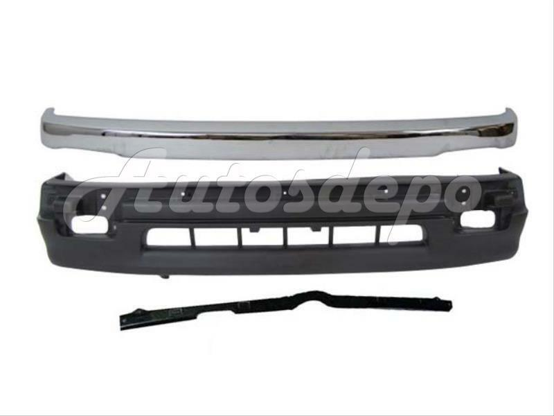 98 99 00 toyota tacoma 2wd front bumper chrome trim 3pc ebay. Black Bedroom Furniture Sets. Home Design Ideas
