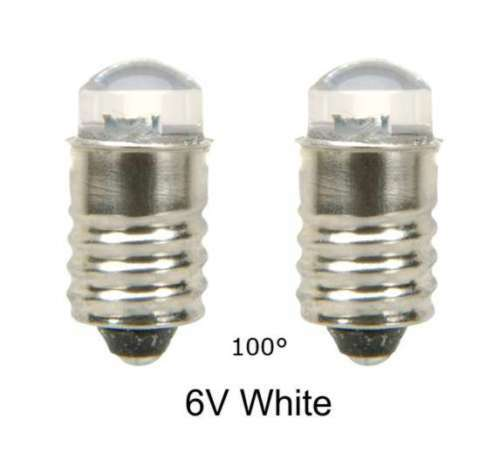 led lamp bulb 6v white 100 mes e10 screw lot of 2 ebay. Black Bedroom Furniture Sets. Home Design Ideas