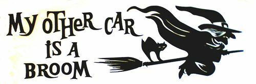 My Other Car Is A Broom Decal Sticker 10 Inch Ebay