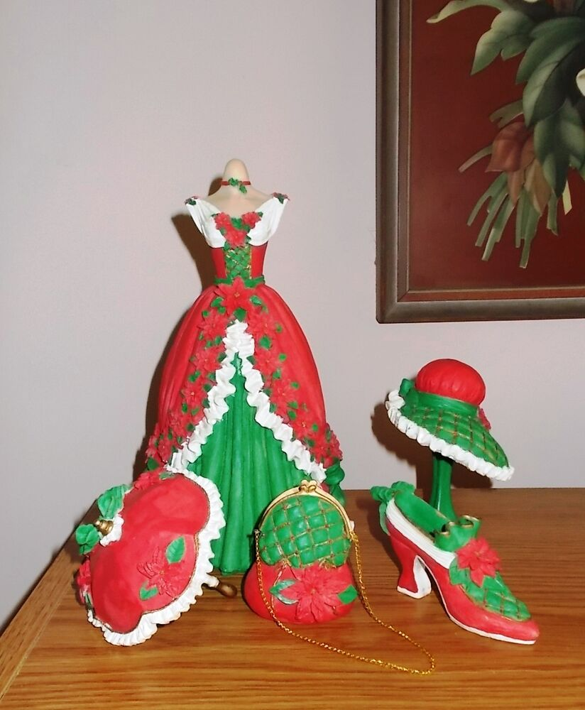 Victorian Christmas Decorations Shop Collectibles Online Daily: SET 6 VICTORIAN HOLIDAY ORNAMENTS DRESS SHOE UMBRELLA