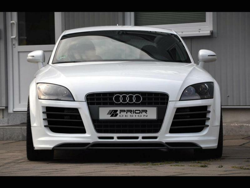 prior design audi tt mk2 8j r8 style full body kit front bumper lip diffuser ebay. Black Bedroom Furniture Sets. Home Design Ideas