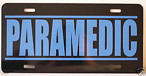 Paramedic License Plate Fire Depatment Ambulance Ems Ebay