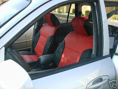 Custom Leather Seat Covers >> HONDA CIVIC 2001 2002 LEATHER-LIKE CUSTOM SEAT COVER | eBay