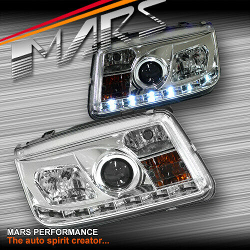 Crystal Real Drl Led Projector Head Lights For Volkswagen