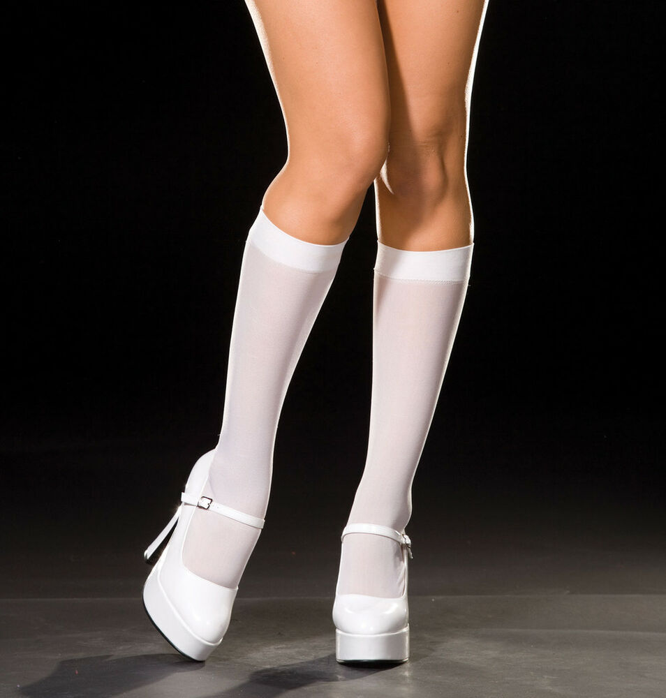 98b189f95 Details about Sexy DreamGirl Costume Accessory Opaque Nylon Knee-High Socks  Stockings