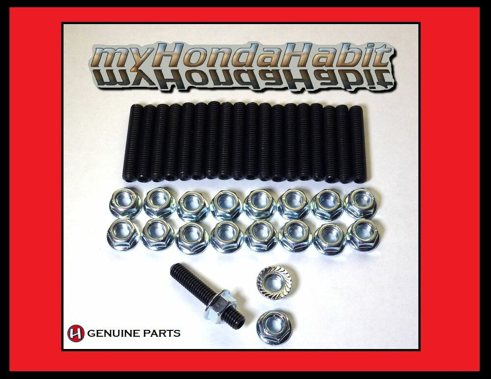 Acura Honda Oil Pan Stud Kit B18 B20 Type R Vtec New Ebay