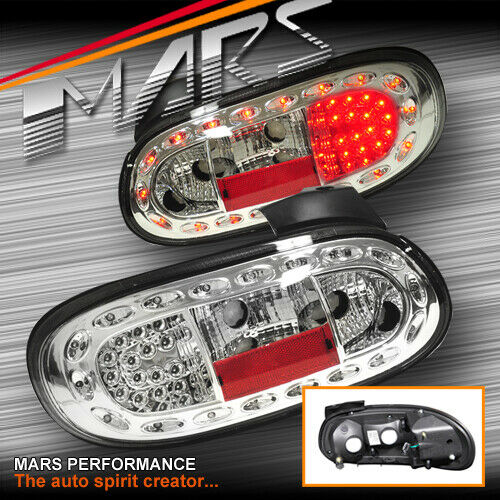 Crystal Clear LED Tail Lights For MAZDA MX-5 NB 98-05 JDM