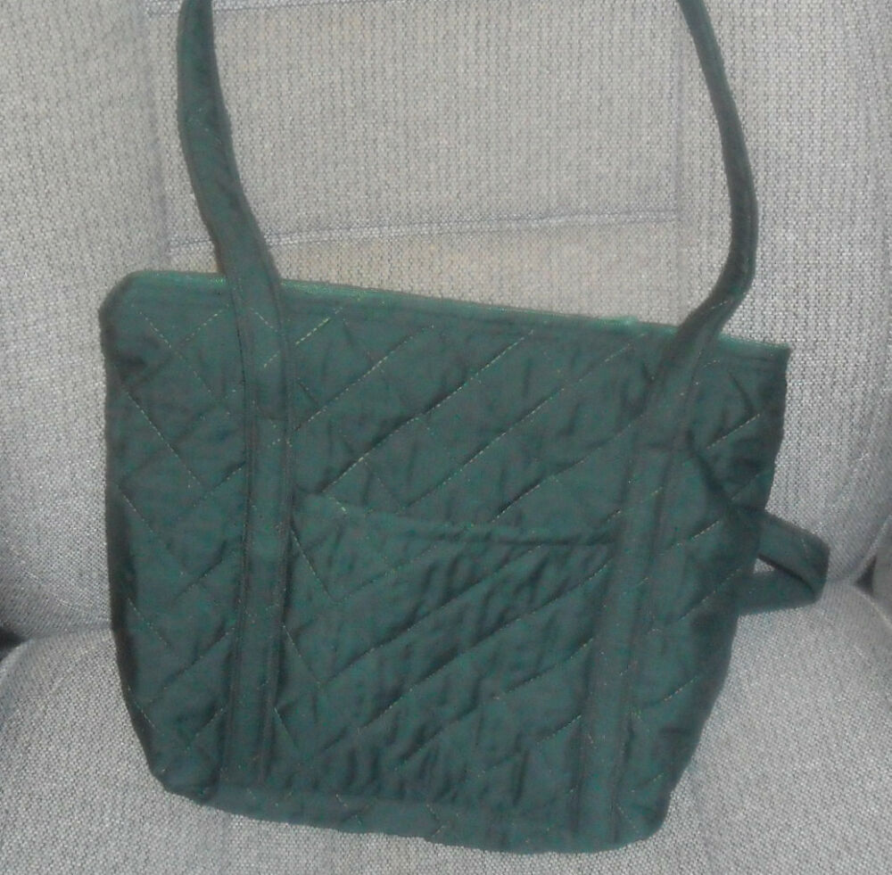 Hand crafted quilted dark green purse look ebay for Handcrafted or hand crafted