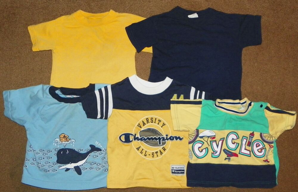 6e2eb634 Details about 5 Boys T-SHIRTS SS TOPS 12 Months SHIRTS Champion Little Red  Hen Small Steps