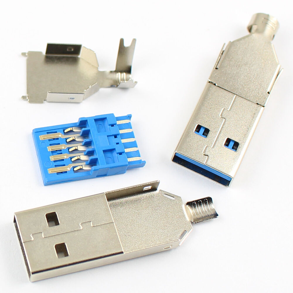 5pcs usb 3 0 a male 9 pin three types plug connector ebay. Black Bedroom Furniture Sets. Home Design Ideas