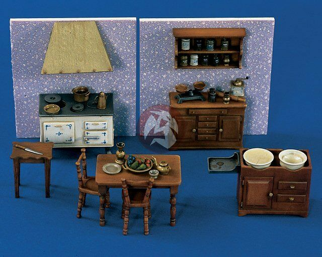 Kitchen Diorama Made Of Cereal Box: Verlinden 1/35 Kitchen Furniture Set [Resin Diorama