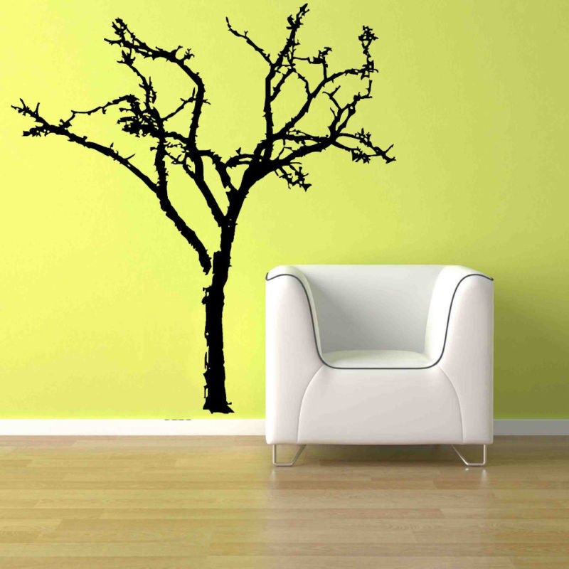 Big bare tree branch home decor removable vinyl wall art for Tree wall art