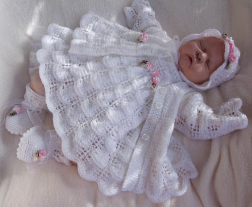 KNITTING PATTERN**TO MAKE MOONDANCE BABY/DOLL DRESS SET eBay
