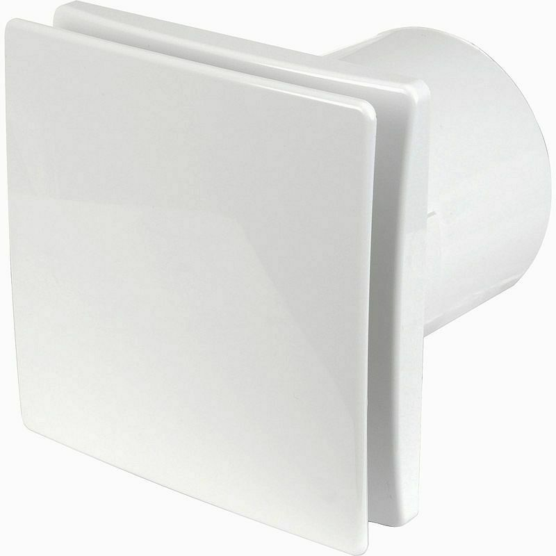 """4""""/100mm Bathroom Tile Extractor Fan - Solid Front Cover With Inbuilt Timer"""