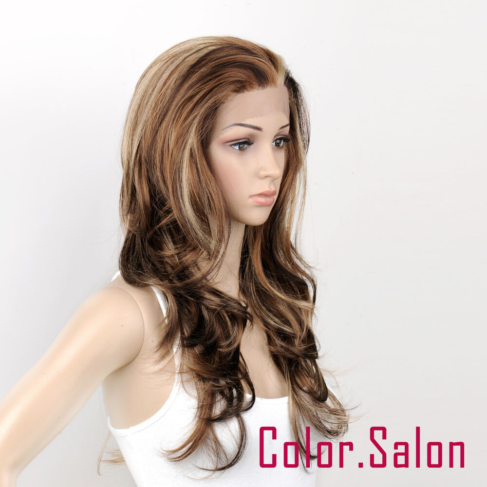 Hand Tied Synthetic Lace Front Full Wigs Glueless Multi