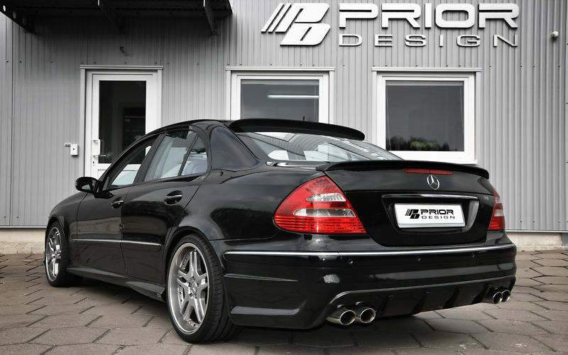 mercedes e class w211 roof spoiler e55 e500 e63 e550 ebay. Black Bedroom Furniture Sets. Home Design Ideas