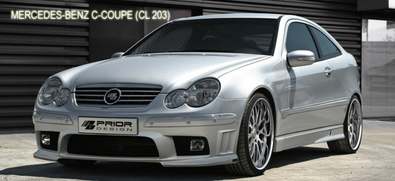 mercedes c class coupe w203 front bumper c230 c280 c320 ebay. Black Bedroom Furniture Sets. Home Design Ideas
