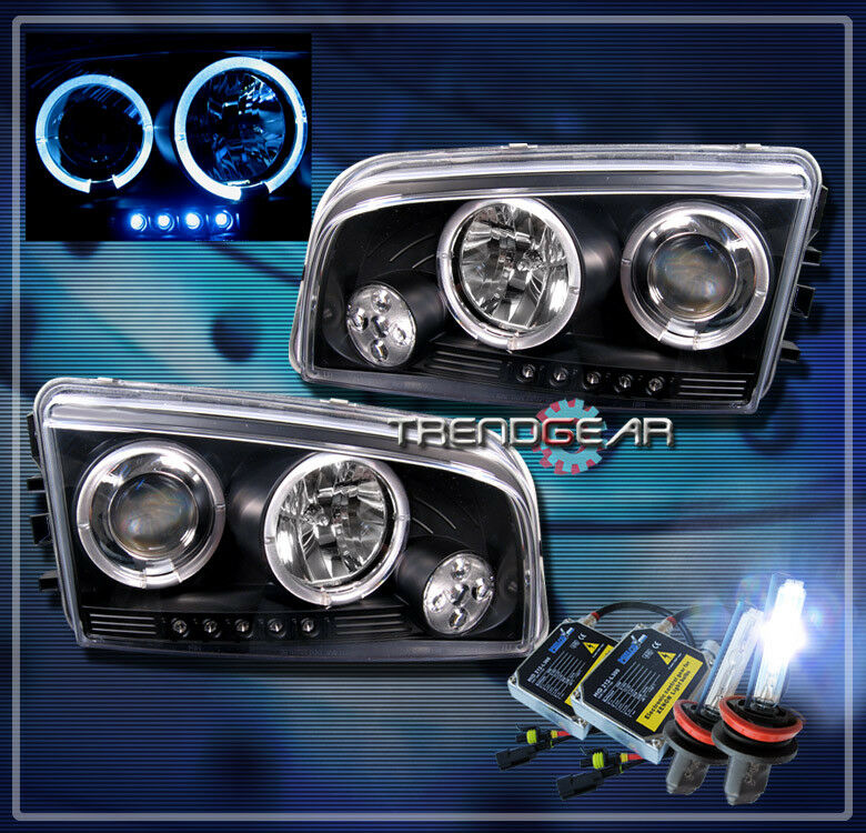 2006 2010 Dodge Charger Halo Led Projector Headlight Hid