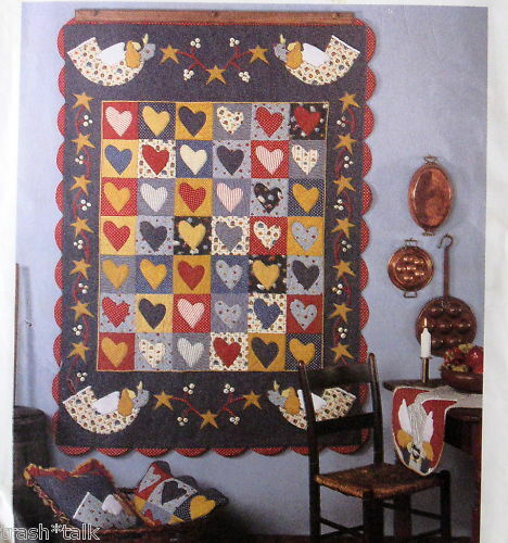 Christmas Quilt Pattern Angel Hearts Table Runner Wall