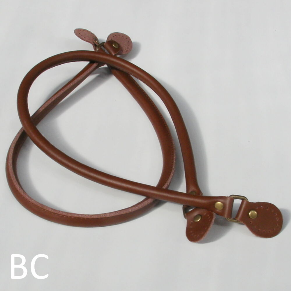 Brown leather bag handles 19 5 50cm ebay for Handles for bags craft