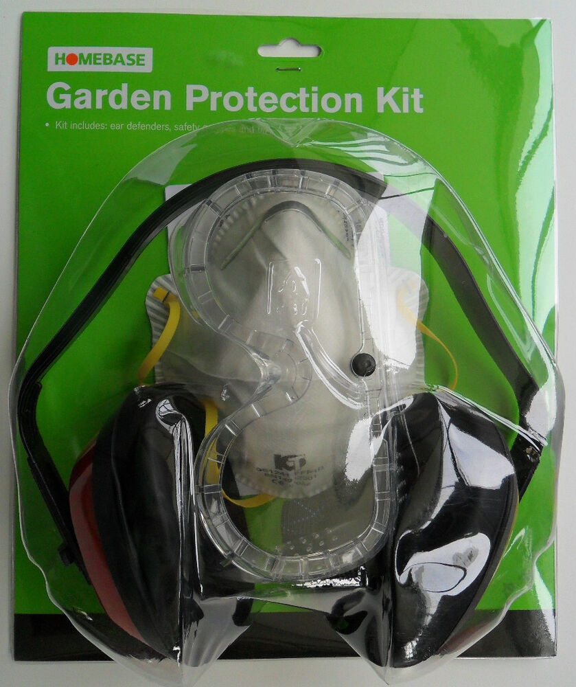 Homebase Garden Ear Defenders Goggles Face Mask Safety