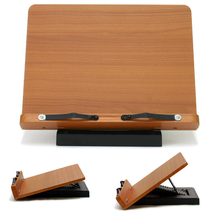 Wooden Reading Table ~ Book stand portable wooden reading desk holder a ebay