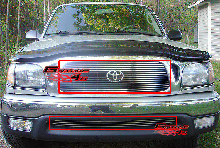 fits toyota tacoma billet grille combo 01 04 ebay. Black Bedroom Furniture Sets. Home Design Ideas
