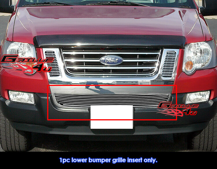 fits ford explorer sport trac bumper billet grille 07 10. Black Bedroom Furniture Sets. Home Design Ideas
