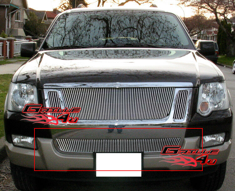 fits ford explorer sport trac bumper billet grille 07 10 ebay. Black Bedroom Furniture Sets. Home Design Ideas