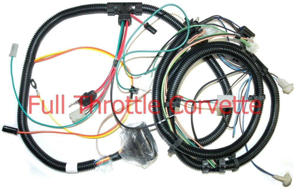 kib wiring harnesses 1978 corvette forward lamp wiring harness new | ebay