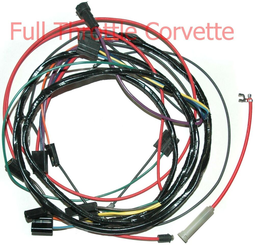 1967 corvette a/c air conditioning wiring harness new | ebay air conditioner wire harness #6
